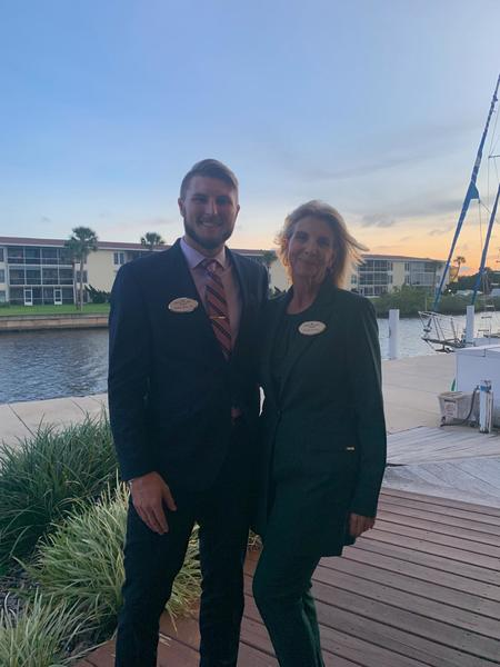 Rice Law Firm attorneys Beth King and Paul Rice III at the Volusia County Bar Association Social